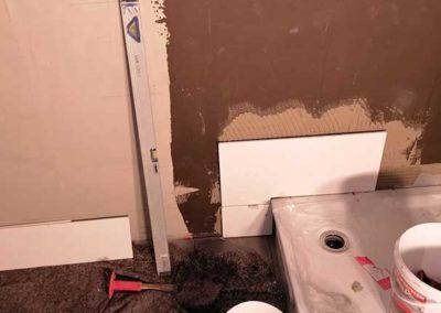 Duschbereich wird gefliest